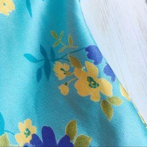 Victoria's Secret Intimates & Sleepwear - Victoria's Secret Blue Floral Satin Lingerie Teddy